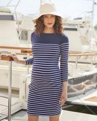 Äitiysmekko Jojo Maman Bebe Breton Stripe Navy White