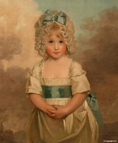 Miss Charlotte Papendick as a Child Artist : John Hoppner  Date : 1788