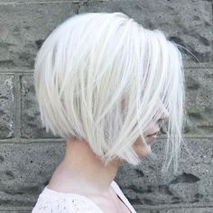 Layered Silver Bob Hairstyle