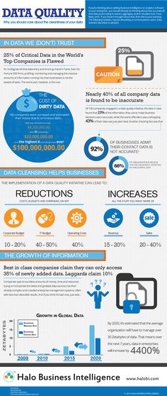 ERP Infographic: Data Quality In BI The Costs And Benefits - Infographic design  Find out more about business intelligence software:  http://findaccountingsoftware.com/focus-on-functionality/business-intelligence-information-for-better-decisions/