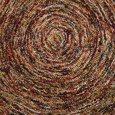 Multicolor Swirl Hooked Wool Rug | World Market