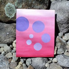 Abstract Bubbles  Original acrylic painting by LindaHansonDesigns