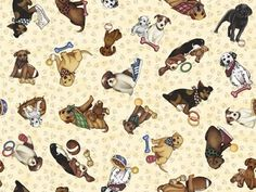 It's a Ruff Life Dog's and Paws Dan Morris Cotton Fabric