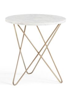 Marble Top Side Table Marble Top Side Table, Brass Side Table, Marble Top  Coffee