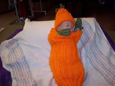Little Pumpkin sleep sack / swaddle sack with matching by oma112