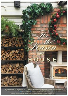 Home - House Dublin Tis The Season, Dublin, Ava, Christmas Wreaths, Events, Seasons, Holiday Decor, House, Design