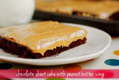 The Best Chocolate Sheet Cake with Peanut Butter Icing