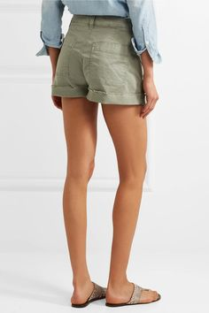 Madewell - Stretch-cotton Twill Shorts - Green - 32