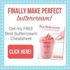 How to Make Perfect Swiss Meringue Buttercream with step-by-step video with tips and tricks along the way in case you mess up plus a list of flavors ideas.