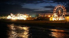 Old Orchard Beach Maine at night
