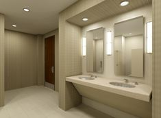 commercial bathrooms design | Commercial Bathroom 3D Set
