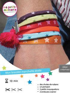 Bracelet rubans (rajouter des breloques)