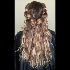 Bohochic balayage colored braid by Guy Tang