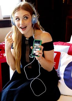 "MTV's ""Teen Wolf"" star, Holland Roden was spotted at Comic-Con rocking a pair of Beats by Dr. Dre Solo² headphones while listening to Hozier on the Beats Music streaming app."
