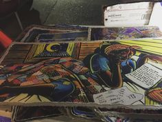 """The title of this art is """"Love letter of slave girl..."""" something like that.. She learned how to read & write and write this letter on her own.  I bought 3-piece #art drawings of jazz performance of his after hesitating for a while among this and 3-piece of Ray Charles. Artist was an old African American gentleman from Atlanta. Amazing! #FrenchQuarter #NewOrleans by sunheesea"""
