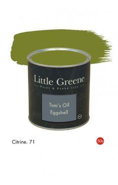Citrine (1950s) n°71. Peinture Tom's Oil Eggshell Little Greene