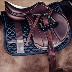 This saddle pad Our saddle pad 'Leather Deluxe' is definitely the perfect match to a brown saddle! #saddle #saddlepad #Regram via @esstockholm