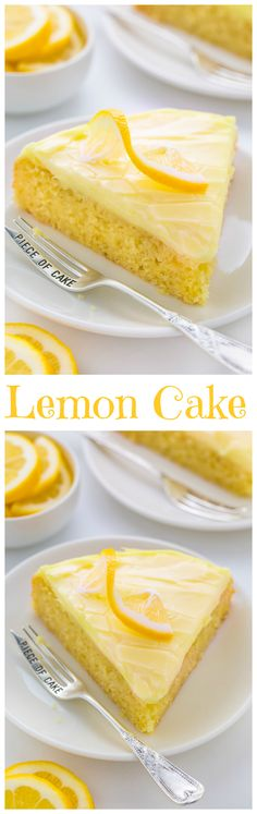 Lemon Cake with Lemon Cream Cheese Frosting - Baker by Nature - Moist and supremely flavorful Lemon Cake with Lemon Cream Cheese Frosting! Lemon Desserts, Lemon Recipes, Cake Recipes, Dessert Recipes, Lemon Cream Cheese Frosting, Cream Frosting, Cream Cake, Let Them Eat Cake, Cupcake Cakes