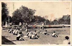 Het zwembad van Hoogeveen in de jaren '50