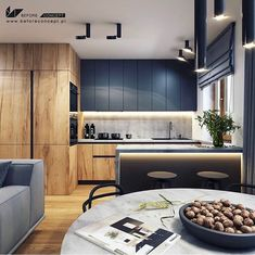 _ 🏠 I Really Enjoy This Modern And Sleek Space! 💬 Do You Appreciate The Colour Scheme? 📣 Design By Loft Kitchen, Kitchen Room Design, Best Kitchen Designs, Kitchen Cabinet Design, Modern Kitchen Design, Home Decor Kitchen, Home Kitchens, Modern Kitchen Interiors, Modern Kitchen Cabinets