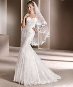 FTW Bridal Wedding Dresses Wedding Dresses Online, Wedding Dress Plus Size, Collection features dresses in all styles as well as more traditional silhouettes. Customize your bridal gown now! La Sposa Wedding Dresses, Designer Wedding Dresses, Bridal Dresses, Dressy Dresses, Simple Dresses, Dresses 2016, Classic Wedding Dress, Mermaid Dresses, Tulle Dress