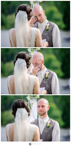 Groom emotions – Grand Lodge Mont-Tremblant – Marie-Andrée and Ray