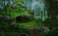 Fresh forest Background Hd