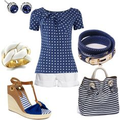 Summer Nautical, created by amyjoyful1 on Polyvore