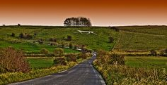 The Hackpen White Horse in Wiltshire, evening
