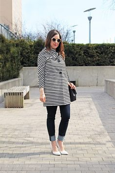 Kate Spade Striped Dorothy Coat with Bow