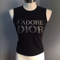 Christian Dior J'Adore Dior 8 Muscle Shirt  fell in luv with this black muscle top. Very similar to the one worn by SJP in Sex & the City 2. 100% authentic, worn and washed. The letters are intact but selling as is. Please see all pictures and ask questions. No trades. Priced fairly! Dior Tops Muscle Tees