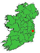 Location of Wicklow Mountains National Park - Climbing and Walking Trails