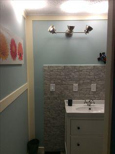 House Renos, Bathroom Lighting, Mirror, Furniture, Home Decor, Homemade Home Decor, Bathroom Vanity Lighting, Mirrors, Home Furnishings