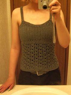 crochet tank top. Free pattern.