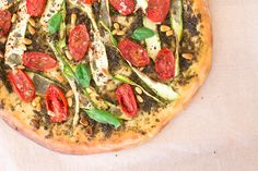 Our vegan pizza is as tasty and indulgent as you'd want. Thin crust is topped with flavoursome pesto, courgette, sweet cherry tomatoes and pine nuts.