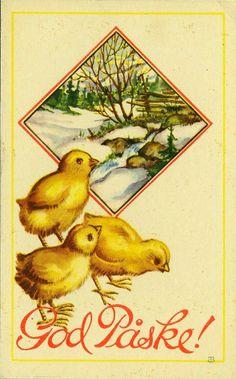 Påskekort Thor Wiborg brukt 1970 Utg Damm Postcards, Painting, Vintage, Painting Art, Paintings, Paint, Draw, Primitive