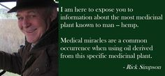 Rick Simpson - Healing properties of cannabis oil