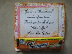 "Quotes Using Candy Bar Names from ""Crafts by Friends"" - part 1"
