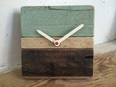 Upcycled wood clock for desktop or wall by EnvisionArtworks, $30.00