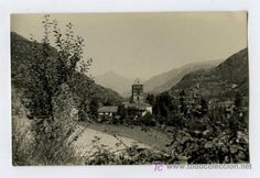 Ribera del Cardós. Pallars. Lérida. Preciosa foto del pueblo. Circa 1960