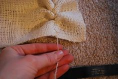 The secret to cutting burlap straight and other burlap tips
