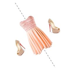 PrettyDressy by louiselulle4 on Polyvore featuring Christian Louboutin