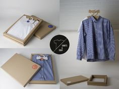 Useful and clever solution to #pack and #hang #shirts - #cardboard #box multiuse