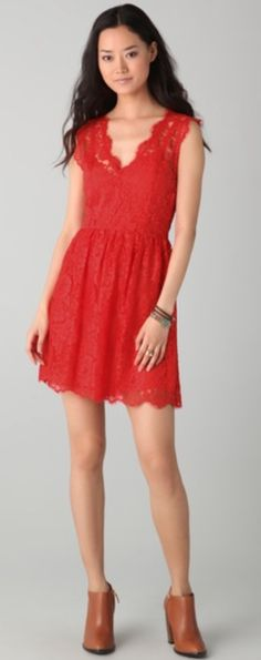 $60 Madison Marcus Red Lace Dress