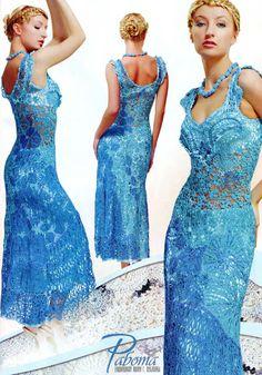 Crochet Flower Patterns Dresses Embellishment by DupletMagazines
