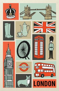 Eeekk! I cannot wait for my first taste of #London in November! This rad poster will serve as my first official bit of travel inspiration. #illustration