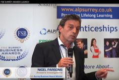 """Private Investigator Nigel Parsons claims he was """"ambushed"""" with a microphone at the launch of the 2015 FSB Surrey Business Awards at Mercedes Benz World in June.  The awards dinner is on November 18th See the video at http://www.answers.uk.com/admin/fsbsurrey2015launch.htm  http://www.answers.uk.com T: 01483 200999"""
