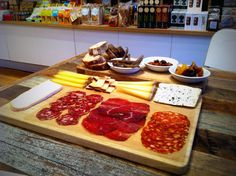Cheese and charcuterie platter by the fabulous Lily, featuring Finocchiona, Bresaola, and Napolitana.