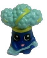 Rockin' Broc (Shopkins 1-002, 1009) Rockin' Broc is a green brocoli with white 'hair' with green streaks. He carries a red guitar. His variant is blue with light blue 'hair' with yellow streaks. He carries a blue guitar. Rockin' Broc is a common Fruit & Veg Shopkin from Season One.