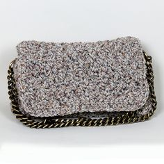 Handmade crochet tweed bag
